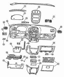 Chrysler Town  U0026 Country Bezel  Instrument Panel  Lower