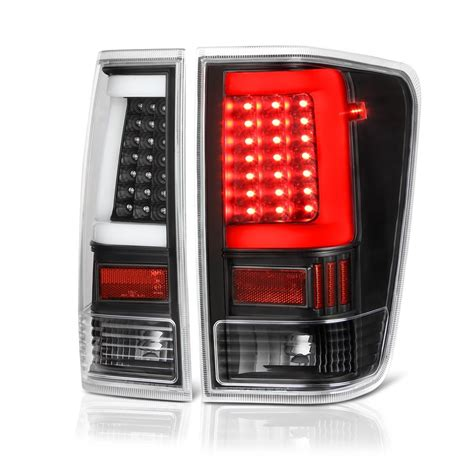 nissan titan led lights 04 15 nissan titan led light tube style tail lights black