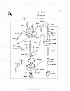 Kawasaki Motorcycle 2005 Oem Parts Diagram For Carburetor