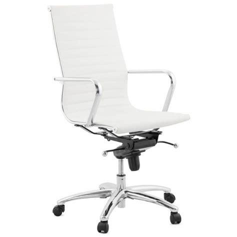 fauteuil bureau cuir blanc fauteuil de bureau amen en simili cuir blanc