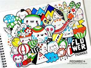 Colored Doodle - Flower [Video] by PicCandle on DeviantArt