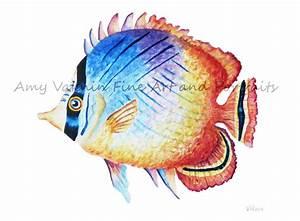 Tropical Fish Watercolor Paintings