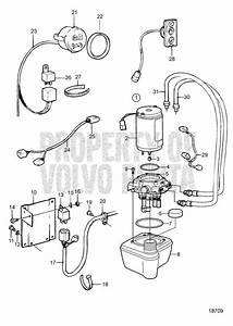 Volvo Penta Exploded View    Schematic Hydraulic Pump And
