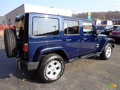 True Blue Pearl 2013 Jeep Wrangler Unlimited Sahara 4x4