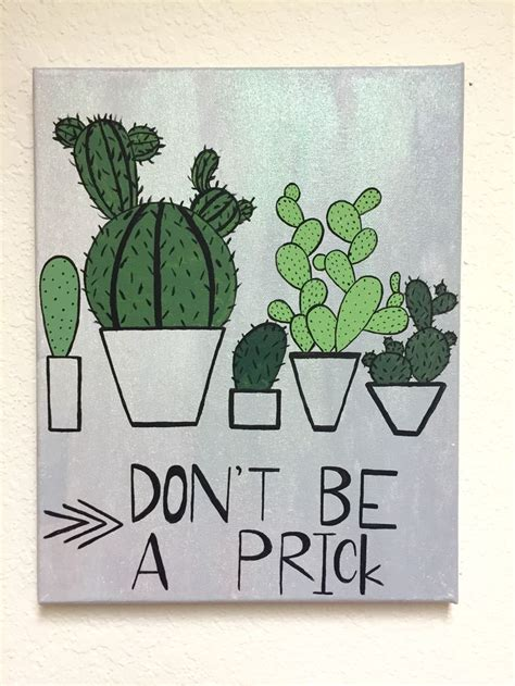 Painting Ideas Diy by Cactus Diy Canvas Canvas Wall