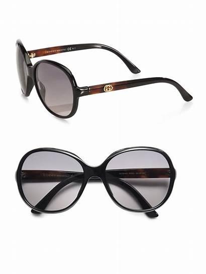 Sunglasses Oversized Gucci Round Plastic Lyst