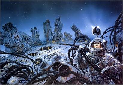 Royo Fiction Science Luis Fantasy Futuristic Painting