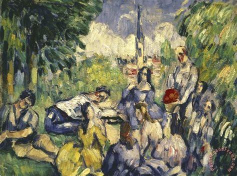 paul cezanne dejeuner sur l herbe painting dejeuner sur l herbe print for sale