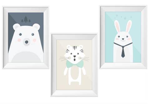 affiches chambre b les animaux s 39 affichent chez les petits joli place