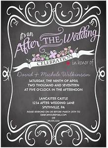 after wedding party invitation wording cobypiccom With wedding party invitations after getting married