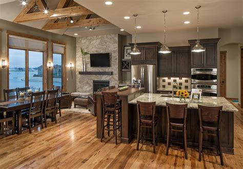 rustic chic lakehouse transitional kitchen omaha
