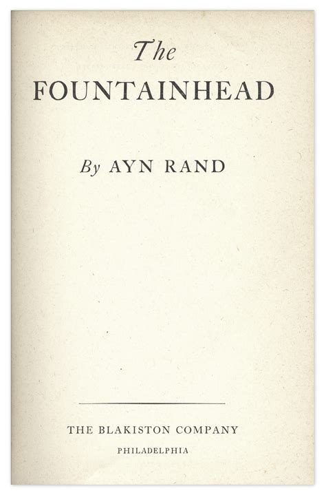 lot detail ayn rand signed copy of the fountainhead with psa dna coa