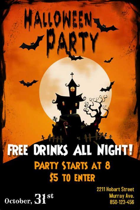 free printable halloween flyer flyer templates lisamaurodesign