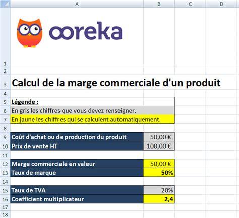 Feuille de calcul : Marge commerciale d un produit (excel)