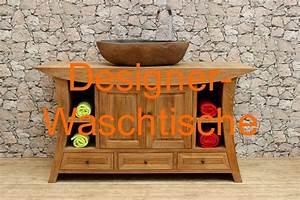 Waschtischunterschrank Für Aufsatzwaschbecken Holz : massiver holz waschtisch aus teak f r aufsatzwaschbecken ~ Bigdaddyawards.com Haus und Dekorationen
