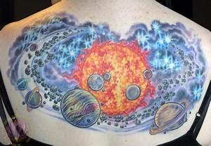 Solar System Back Tattoo by James Kern: TattooNOW