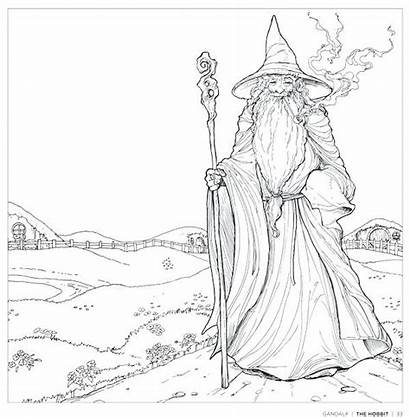 Coloring Lord Pages Rings Gandalf Ring Getdrawings