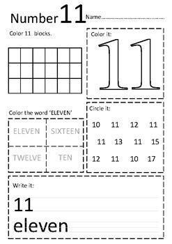 numbers 11 20 worksheets by onphamon teachers pay teachers