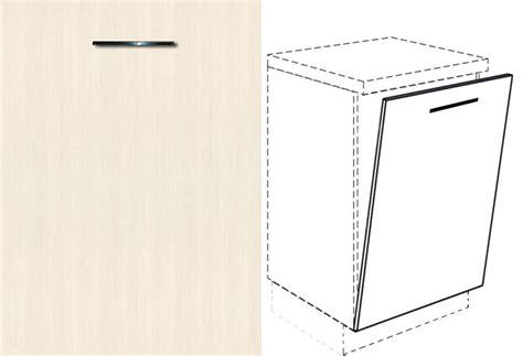 geschirrspüler front 45 cm unterschrank front f 252 r geschirrsp 252 ler vollintegriert breite 45cm 18 woodline creme