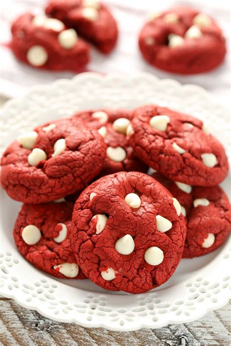 Recipe quick peanut butter chocolate chip cookies. Red Velvet Cake Mix Cookies