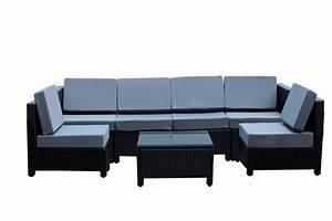7 pcs luxury wicker patio sectional indoor outdoor sofa for Indoor outdoor sectional sofa