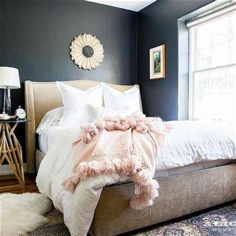 beige  pink romantic bedroom design transitional