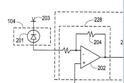 Photodiode Resistor Transimpedance Amplifier Input