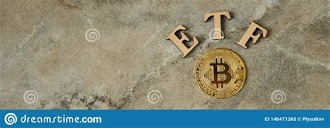 A bitcoin etf mimics the price of the digital currency, allowing investors to buy into the etf without trading bitcoin itself. Bitcoin Coin With ETF Text On Stone Background Stock Image - Image of currency, concept: 146471265