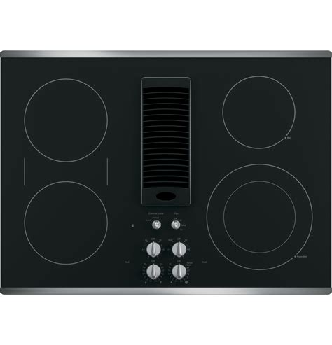 30 inch electric cooktop ge profile series pp9830sjss 30 quot downdraft electric