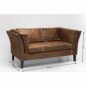 canape vintage en cuir eco kare design With canape vintage design