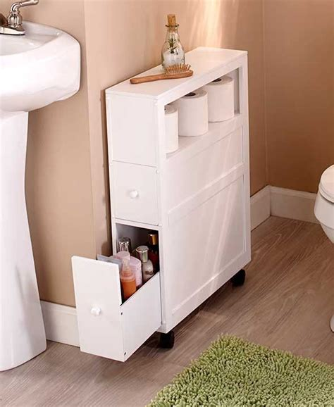 small bathroom cabinet with drawers slim bathroom storage cabinet rolling 2 drawers open shelf