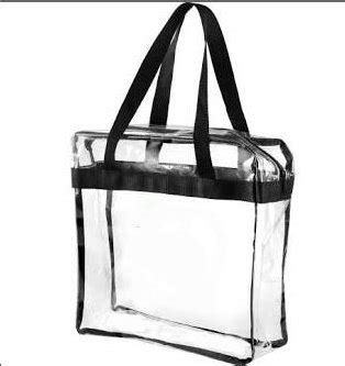 zippered clear stadium bagmonogrammed clear game day baggame