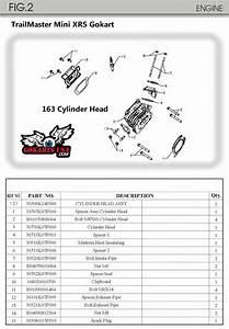 163cc Engine Cylinder  For Trailmaster Mini Xrx Xrs Gokart