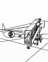 Airport Coloring Tourist Landed Coloringsky Boys sketch template