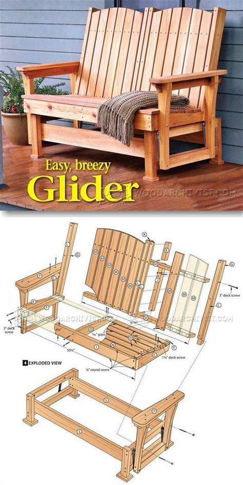 glider bench plans outdoor furniture plans projects