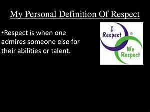 Ezra's Powe... Respect Definition