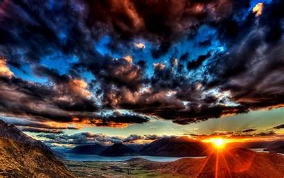 Clouds Dark Wallpapers Sunset Cave