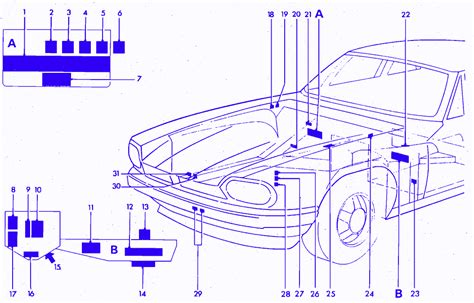 Wiring Diagram Circuit Breaker Locator by Jaguar Xjs 1989 Front Engine Fuse Box Block Circuit