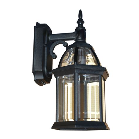 portfolio black motion activated outdoor wall light enlarged image
