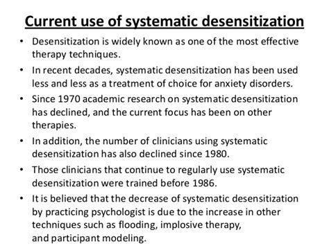 systematic desensitization systematic desensitization