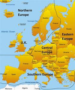 Northern Europe Map Showing Iconic Tourist Attractions