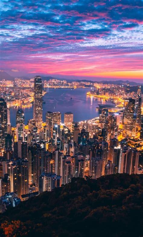 iphone  wallpaper night cityscape hong kong city  hd cheap places  travel travel