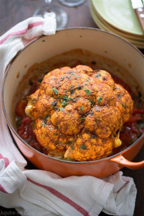 cuisine chou fleur chou fleur rôti entier au paprika fumé oliver