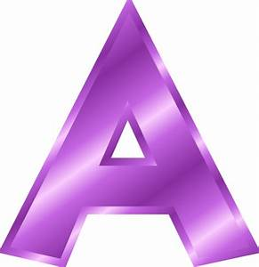 letter a clipart purple clipartxtras With purple alphabet letters
