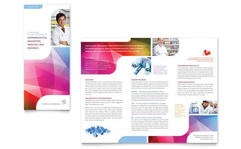 free microsoft word brochure templates tri fold pharmacy school tri fold brochure template design