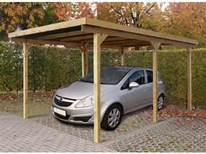 Garage Le Moins Cher : abri voiture bois toit plat id1804 contact france abris ~ Medecine-chirurgie-esthetiques.com Avis de Voitures