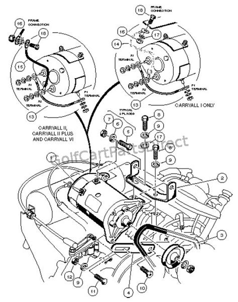 Club Car Starter Generator Wiring by 1997 Carryall 1 2 6 By Club Car Golfcartpartsdirect