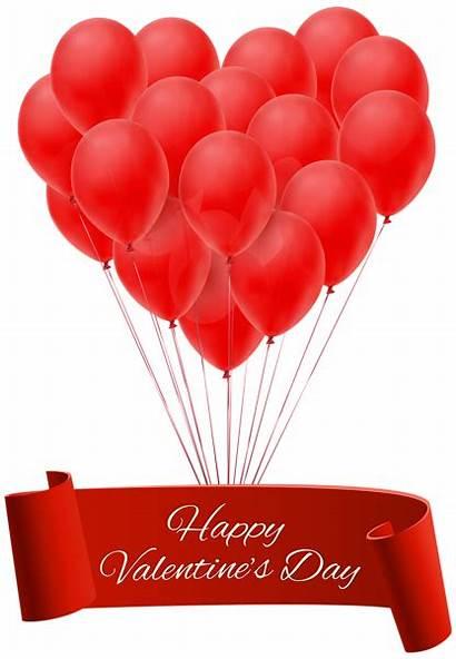 Valentine Valentines Happy Clip Banner Balloons Clipart