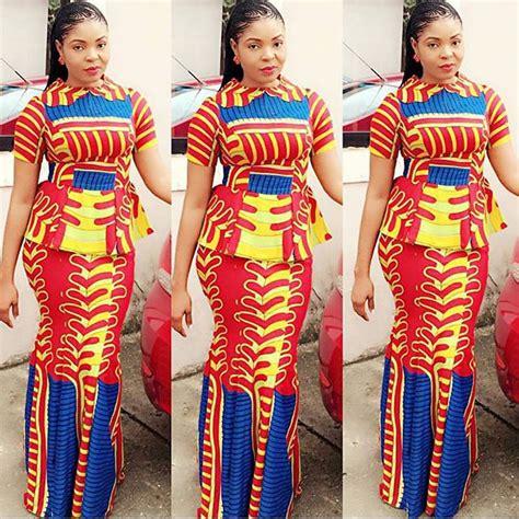 latest ankara skirt  blouse style  wedding