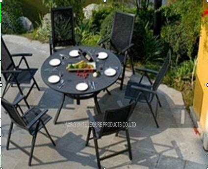 black garden table and chairs set metal patio furniture